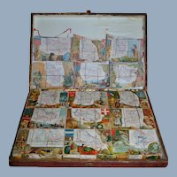 French wooden puzzle from 1875/1880.