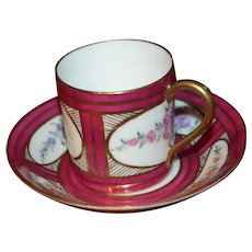 Hand painted cup , with lovely colors