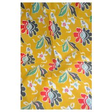 French 1950 printed cotton
