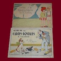1920/1925 Post card coloring album