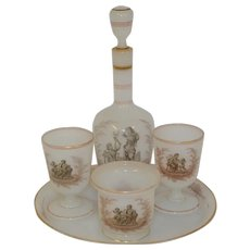 Opaline French nice 19th century set