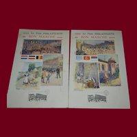 Le bon  marche  stamps trade album never used