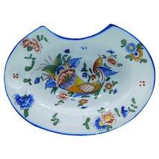 Antique; Shaving bowl; Horn of Plenty; French; Faience; Saint-Clement; K & G ; 1900