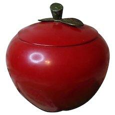 Big, Juicy Metal Apple Cookie Jar