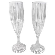 """Champagne """"Park Lane"""" Fluted by MIKASA toasting wedding glasses liquor cocktail Set of 2"""