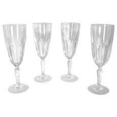 "Cristal D'Arques-Durand ""Washington"" Champagne Glass Vintage Set Of 4 glasses"