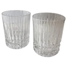 "Fostoria ""Heritage Clear Double Old Fashioned 10 Oz. Glasses Bar Scotch Whisky set of 2"