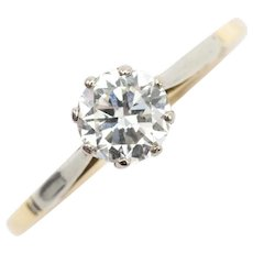 Vintage diamond solitaire in 18 carat gold