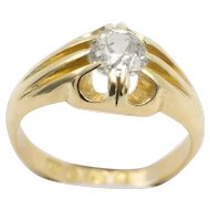 18 Carat gold Victorian gypsy ring from 1887