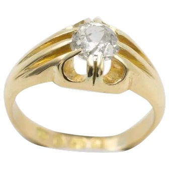 18 Carat gold gypsy ring from 1887