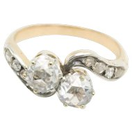 Toi et moi Rose Diamond Ring in 18 Carat Gold