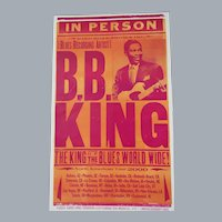 BB King Tour Poster 2000 North American Tour The King of Blues Worldwide