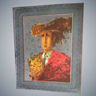 "Sunol Alvar Artists Proof #9 Signed Limited Edition Print Rare Spanish""Toreador"""