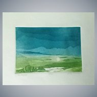 Alec Cowan colored Lithograph,limited Ed.18/52(L'estagul)signed/pencil,fine art!