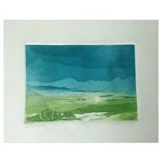 Alec Cowan colored Lithograph,limited Ed.18/52(L'estagul)signed/pencil,fine art!