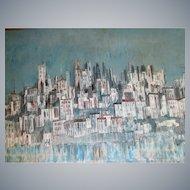 "Ladislas Kardos(1909-2007),34""x 26"" oil/canvas, Canadian/Hungry artist,"