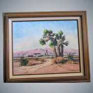 "Darwin Duncan 16""x20"" O/C painting,Calif Impressionist artist,Joshua tree,Desert!"