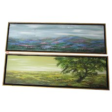 "Two 28""x 8"" ,James R. Mastin, O/C paintings from the Buddy Fisher gallery,Palm Springs"