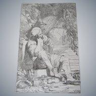 "John Hamilton Mortimer (1740-1779)An original etching  titled ""Reposo"", 1778. Published Dec. 8th, 1778"