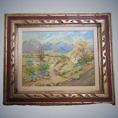 Frank Julius Fisher(1884-1973)California artist,Desert Scenery,Oil/board,framed