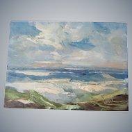 "Derk Smit Santa Barbara Beach scene 8""x 6"" Oil painting on Masonite"