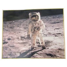 "Buzz Aldrin Apollo 11 signed Moon Landing photo 16""x 20"" framed"