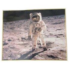 """Buzz Aldrin Apollo 11 signed Moon Landing photo 16""""x 20"""" framed"""