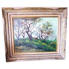 "Josef Lee 16""x 20 O/C , framed, bucolic scene,"