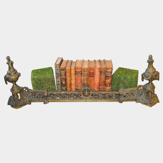 Antique French Bronze Andirons Chenets Fireplace Set