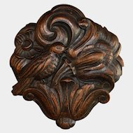 Antique Black Forest Carved Wood German Bird Wall Mount Plaque