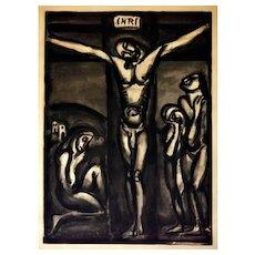 """Aimez-Vous Les Uns Les Autre - Original Etching from """"Miserere"""" by G. Rouault 1948"""
