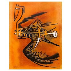 "Soeur de la Gazelle - from the suite ""Pleni Luna"", Original Litograph by Wilfredo Lam, 1974"