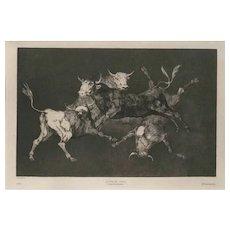 Lluvia De Toros Francisco by José de Goya y Lucientes