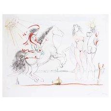 Louis XVI - Original Etching by Salvador Dalì 1970-1980