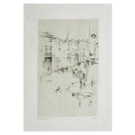 Alderney Street - Original Etching by J.A. Whistler - 1881
