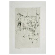 Alderney Street - Original Etching by J.A. Whistler - 1881