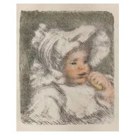 Original Ancient Lithography by A. Renoir