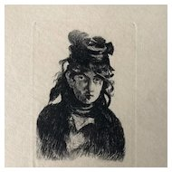 Original Etching by E. Manet