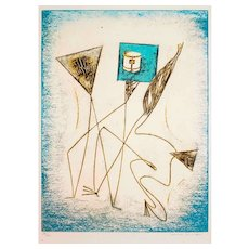 """Max Ernst Composition from """"Festin"""" - Original Lithograph by Max Ernst - 1974"""