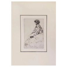 Original Etching of Bibi Lalouette by J. Abbott McNeill Whistler