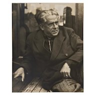 Portrait of Francis Picabia - Original Photograph by Man Ray - 1935 1935