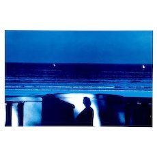 Attendance Blue Sea - Vintage Poster After Franco Fontana - 1981