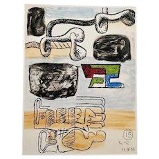 Colored Etching by Le Corbusier, 1963 - 1965