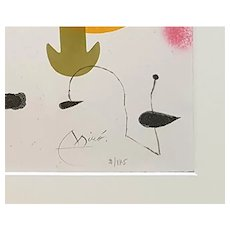 Je n'ai jamais appris à écrire ou les incipit - Original Etching by Joan Mirò 1969