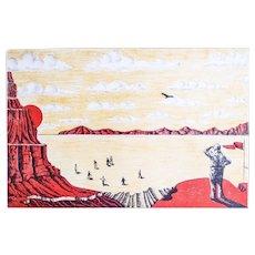American Canyon - Original Lithograph by Francesco Barilli - 1980 ca.
