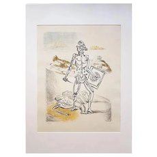 Le Gladiateur 'The Gladiator' - Original Litograph by Giorgio De Chirico, 1929