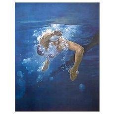 Swimmer, Olympic Games Beijing 2008 - Original Lithograph by Kim Hyang, 2008