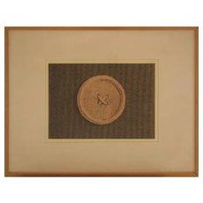 Button - Original Litograph by Domenico Gnoli, 1966