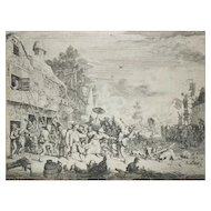 The Kermesse, Ancient Original Etching