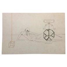 "L'Immortalitè Tetraedrique du cube - ""The Immortality"", Original Litograph by  Salvador Dalí, 1973"